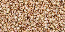 TR15 #994 радужный кристалл золотая внутренняя линия