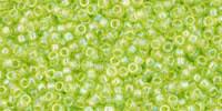 TR15 #164 прозрачный радужный зеленый лайм
