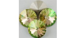 Swarowsky Rivoli Crystal Crystal Luminous Green (001 LUMG) 12mm