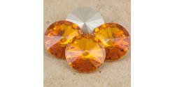Swarowsky Rivoli Crystal 259 Tangerine  12mm