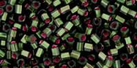 TC01  #2204 матовый оливин серебряная внутренняя линия внутренний цвет розовый