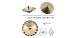 Swarowsky Rivoli Crystal 261 Light Silk 14mm