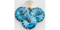 Swarowsky Rivoli Crystal 202 Aquamarine 16mm
