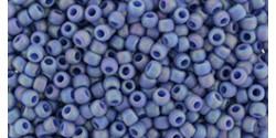 TR11 #2636F непрозрачный радужный матовый запылённый мягкий синий