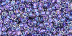 TR15 #265 радужный хрусталь металлизированная внутренний цвет фиолетовый