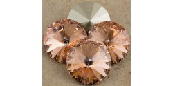 Swarowsky Rivoli Crystal 362 Light  Peach 12mm
