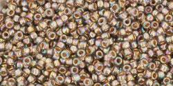 TR15 #999 радужный черный бриллиант золотая внутренняя линия