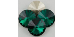 Swarowsky Rivoli Crystal 205 Emerald 12mm