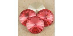 Swarowsky Rivoli Crystal  542 Padparadsha 12mm