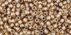 TR11 #286 бледный янтарь серебряная внутренняя линия