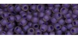 TR15 #928FM  матовый аметист внутренний цвет непрозрачный фиолетовый