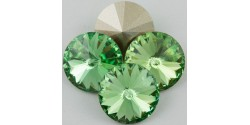 Swarowsky Rivoli Crystal 214 Peridot 14mm