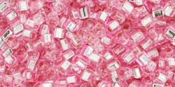 TC01 #38 розовый серебряная внутренняя линия (Артикул снят с производства!)