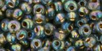 TM03 #999 радужный чёрный бриллиант золотая внутренняя линия (Артикул снят с производства!)