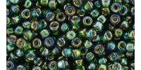 TR08 #2036 радужный зеленый изумруд серебряная внутренняя линия (Артикул снят с производства!)