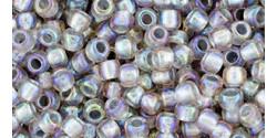 TR11 #1807 прозрачный радужный серый серебряная внутренняя линия