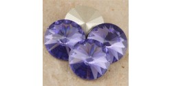 Swarowsky Rivoli Crystal 539 Tanzanite 12mm