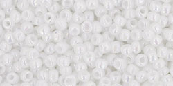 TR11 #401 непрозрачный радужный белый