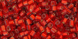TC01 #25C: рубин серебряная внутренняя линия