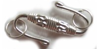 H20-7271FN Застежка, S-крюк, 25x15.5mm, посеребренная латунь