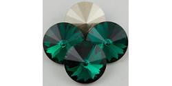 Swarowsky Rivoli Crystal 205 Emerald 14mm