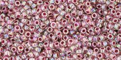 TR15 #771 радужный хрусталь внутренний цвет клубника