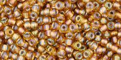 TR11 #278 радужный топаз золотая внутренняя линия