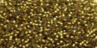 TR15 #996FМ матовый радужный перидот золотая внутренняя линия