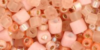 TX01-3202 Микс Piichi персиковых оттенков