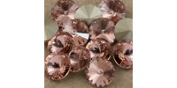 Swarowsky Rivoli Crystal 319 Vintage Rose 12mm