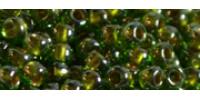 TR11 #1007 прозрачный глянцевый оливин золотая внутренняя линия