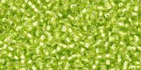 TR15 #24 матовый зеленый лайм серебряная внутренняя линия