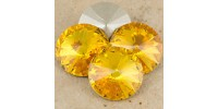 Swarowsky Rivoli Crystal 292 Sunflower 14mm