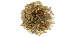 391-310-15695 CzechMates Crescent 3/10mm Luster-Transparent Smoky Topaz (Прозрачный смоки топаз золотой глянец), 5гр.