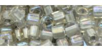TC03 #261 радужный хрусталь внутренний цвет серый