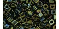 TC03 #84 металлизированный зелено-коричневый ирис