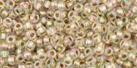 TR11 #994: радужный хрусталь золотая внутренняя линия