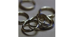Кольцо для бус двойное, 0,8*7мм, серебро, 25 шт
