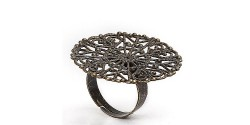 Основа филигранная безразмерная для кольца, бронза, 1шт.
