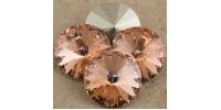 Swarowsky Rivoli Crystal 362 Light  Peach 12mm