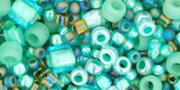 TX01-3203 Микс  морская пена зеленое очарование