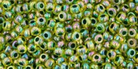 TR15 #1829 радужный бледно-желтый внутренний цвет зеленый лес