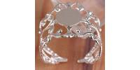 Основа филигранная безразмерная для кольца, серебро, 1шт.