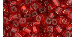 TC03 #25C: рубин серебряная внутренняя линия