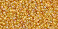 TR15 #162B прозрачный радужный средне-темный топаз