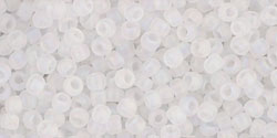 TR15 #161F прозрачный матовый радужный хрусталь