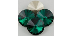 Swarowsky Rivoli Crystal 205 Emerald 14mm