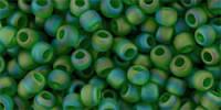 TR15 #167BF: прозрачный радужный матовый травянисто-зеленый