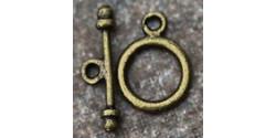 Тоггл Круглый маленький 10*13мм палочка 15мм античная бронза 1шт.