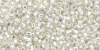 TR15 #2100 молочный белый серебряная внутренняя линия